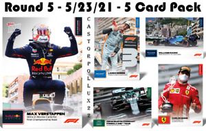 5 Card Set 10 11 12 13 14 - 2021 Topps Now Formula 1 F1 - Pre-Sale No Cancel