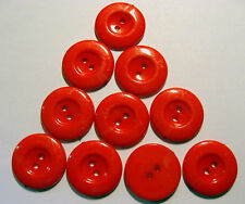 10 x Large RED 2-Hole Plastic Buttons approx. 22mm Wide (SB2J)