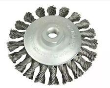 Lessmann Conical Knot Brush 115mm M14 Bore 0.35 Steel Wire LES472157