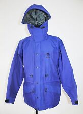 Vtg Haglofs Guide Gore-Tex Hooded Mens Jacket coat Dark Blue Outdoor Size L