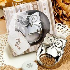 Owl Shape Wine Beer Bottle Cap Opener Wedding Party Home Favors Gift Silver