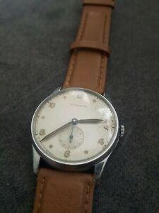 Vintage Eterna Sub Second Manual Wind Men's Watch 3247028. Working.