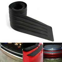 Black Universal Car Rear Bumper Protector Plate Rubber Cover Guard Trim Pad New