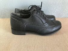 BNWT Ladies Sz 6 Rivers Brand Black Casual Leather look Lace up Work Dress shoe