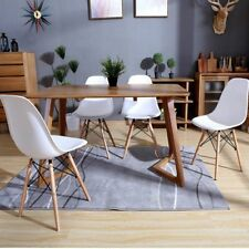 Pack 4 sillas de comedor silla diseño nórdico piernas de madera Blanco