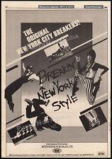 BREAKIN' NEW YORK STYLE__Orig. 1984 Trade AD_poster__LORI EASTSIDE__breakdancing