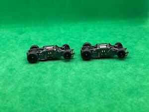 2 NOS ORIGINAL TYCO 440-X2, NARROW CHASSIS, BLACK WHEELS, NEW OLD STOCK
