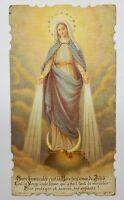 Vintage Prayer Card French Virgin Mary Mother Jesus Catholic Christian Ephemera