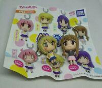 2pc Yuyushiki figure keychain strap charm anime kawaii Japan lot