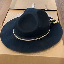 Vintage KANSAS HIGHWAY PATROL Stratton Hat Named Felt 7 1/4