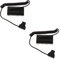 2 Packs D-Tap to NP-F550 Dummy Straight Battery DC Power Cable for NP-F550