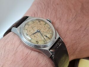 Rare Omega 1939 Gents Military Officers Wristwatch Fully Working.