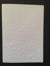 5 Blank A6 White Embossed Cards/Envelopes/Sleeves - 5 designs - All Occasions