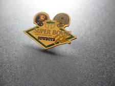 VINTAGE SUPER BOWL XII DALLAS COWBOYS vs DENVER BRONCOS LAPEL HAT PIN
