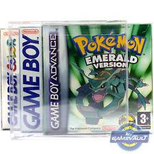 20 x Nintendo Game Boy Advance Game Box Protettori 0.5 mm custodia in plastica di visualizzazione