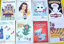Set 12 Reproduction Vintage Postcards Advertising Transport Craft 140x100mm