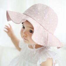 Newborn Baby Girl Flower Princess Sun Hat Summer Toddler Kids Outdoor Bucket Cap