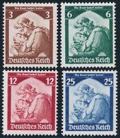 DR 1935, MiNr. 565-568, 565-68, tadellos postfrisch, Mi. 120,-
