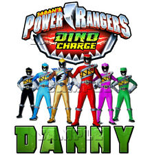 Power Rangers Dino Charge Party PERSONALIZE Add Name Custom Birthday T-shirt