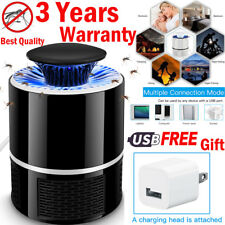 USB Electronic Bug Insect Mosquito Killer Indoor Mosquito Trap Inhaled Lamp US