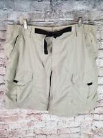 Eddie Bauer Sport Mens 40 XL Vented Shorts Hiking Outdoors Tan Khaki