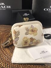 COACH 1941 Kisslock Coin Purse & Card Case CHALK BLOSSOM PRINT NWT!