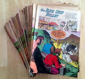 JERRY WEIST ESTATE: 50 copies DEAD-EYE WESTERN COMICS v. 2 #10 (Hillman 1952) NR