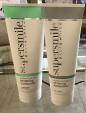 Supersmile EXTRA Whitening Toothpaste & Accelerator TRIPLE MINT(full size each)