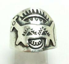 Stamped Wide Fred Harvey Dog Sterling Silver 925 Ring 9g  Sz.7 SAF686