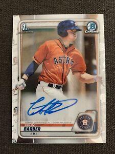 2020 Bowman Chrome Baseball Colin Barber Auto 1st Prospect Astros 💎💎💎