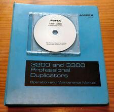 AMPEX 3200-3300 Tape Duplicators - Operation & Maintenance Manual on CD - ROM