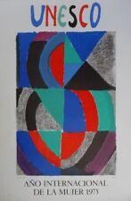 Sonia Delaunay-Lithographie - Signiert - 1975 ohne Ramen