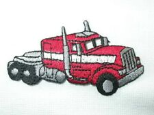 Big Red Rig Truck Embroidered Iron On Patch
