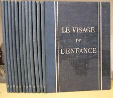 LE VISAGE DE L'ENFANCE HORIZONS DE FRANCE 1937 12 VOLUMES SOCIOLOGIE ETHNOLOGIE