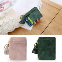 Womens Leather Small Lady Wallet Card Holder Coin Purse Clutch Handbag Case