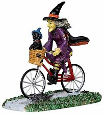 Lemax 32109 BE-WITCHING BIKE RIDE Spooky Town Figurine Halloween Decor Witch I
