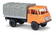 Busch 51602 - 1/87 / H0 Robur Lo 1800 A Pritsche/Plane - Orange - Neu