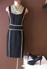 David Meister black dress with white accent, size 6