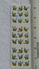 Sandylion *MINI BEES WITH PRISMATIC WINGS* 27 Stickers RARE RETIRED OUT OF PRINT