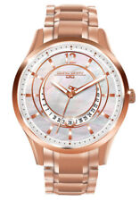 Jorg Gray Womens JG1400-14 White MOP Dial Rose Gold Stainless Steel Band Watch