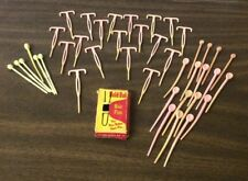 VTG MIXED LOT BOX OF HOLD BOB HAIR PINS & PINK&WHITE HAIR ROLLER PINS ASSORTED