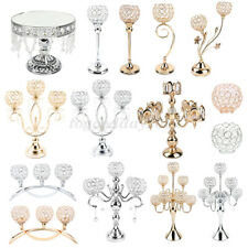 Crystal Candle Holders Candlesticks Dining Room Wedding Table Centerpieces