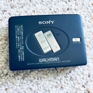 Sony WM-EX641 Walkman Cassette Player, Rare Grey! Tested & Working !