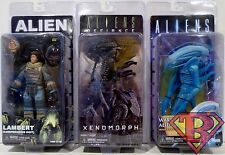 """LAMBERT XENOMORPH WARRIOR ALIEN Aliens 7"""" Figure Set of 3 Series 11 Neca 2017"""