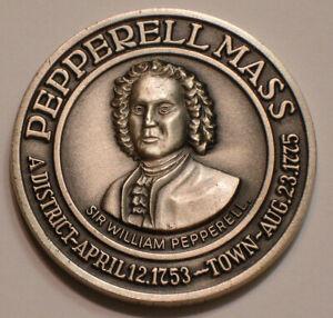 Town of PEPPERELL Massachusetts SILVER Medal Gem BU Shoot Whites of Thier Eyes