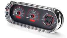Dakota Digital 63 64 65 Chevy Nova Analog Gauges Kit Carbon Red VHX-63C-NOV-C-R