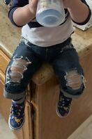 Distressed Baby/Toddler Boys Stretch Skinny Jeans