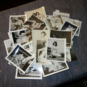 35 VTG 1940's 1950s  B&W NUDE  Photos Photographs (kf)