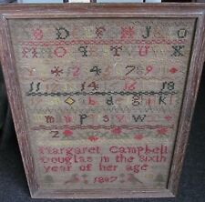 Vintage Antiguo Sampler M Campbell 1807