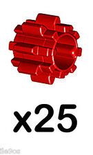 x25 Lego small GEARS (without,friction,red,8,tooth,tooth,11955,ev3,spur,cog,car)